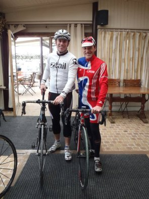 DKHQ Partner Tim Dalton with his cousin Craig Dalton at De Kalvaar before heading out to test out the cobbles.