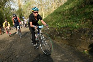 Dalton Koss Partner Dr Rebecca Koss attacking the Kapelmuur.