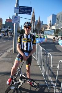 Continental Pro and former Irish National Champion, Matthew Brammier after the prologue TT.
