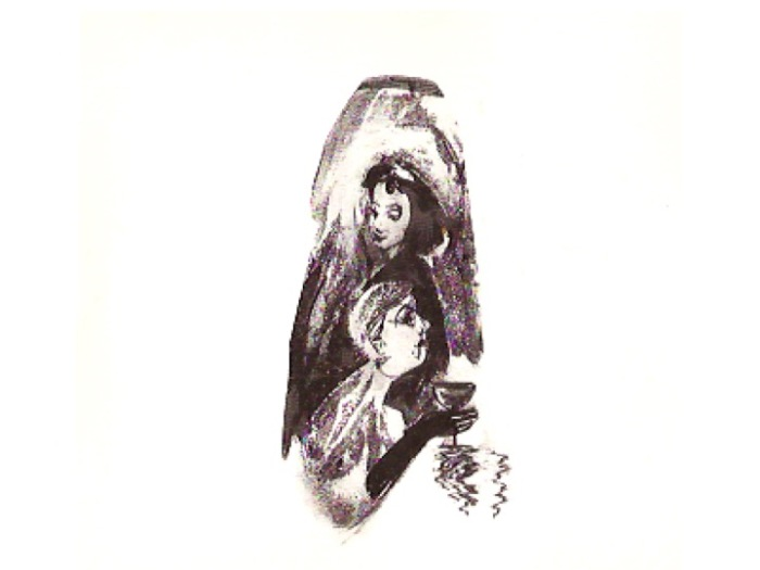 Mary Margaret O'Hara's own artwork adorns the front and back covers of her album Miss America.