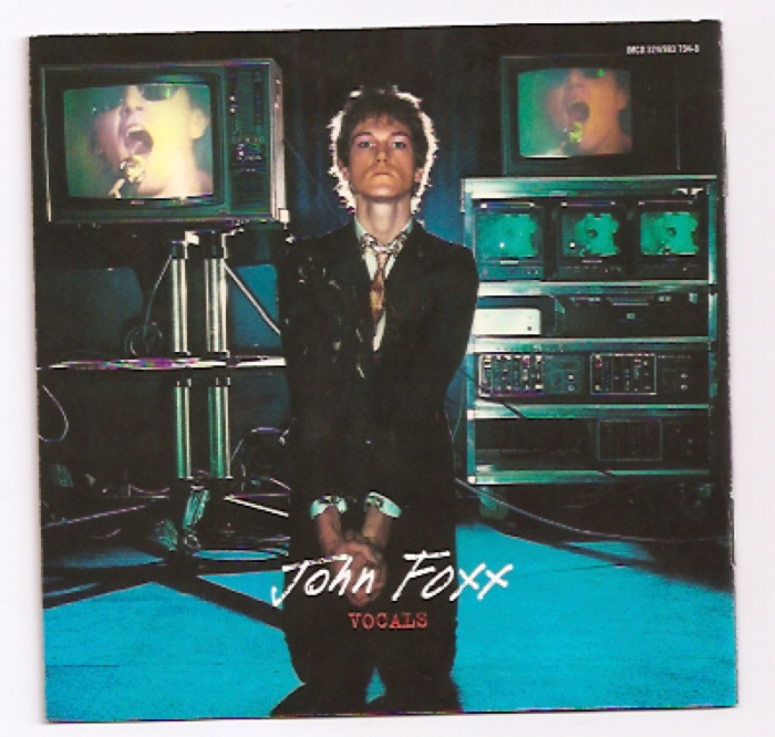 Ultravox! back cover featuring John Foxx.